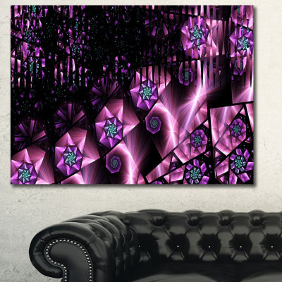 Designart Purple Radiance Of Starry Sky Abstract Wall Art Canvas
