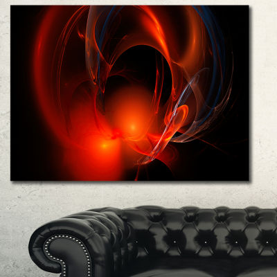 Designart Red Galactic Nebula On Black Abstract Wall Art Canvas