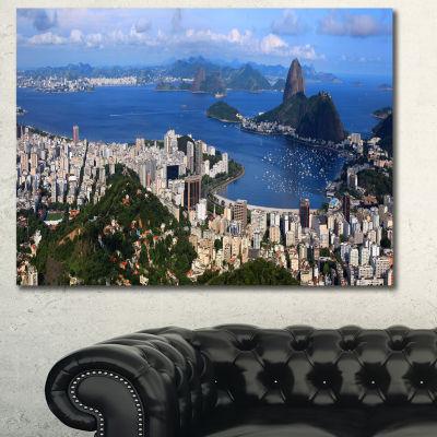 Designart Rio De Janeiro Panorama Landscape CanvasArt Print
