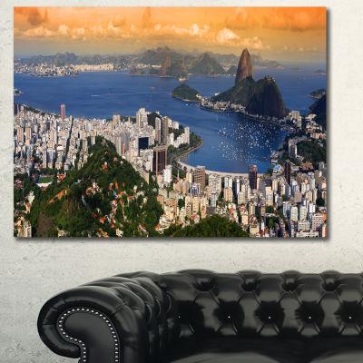 Designart Rio Landscape Panorama Landscape CanvasArt Print