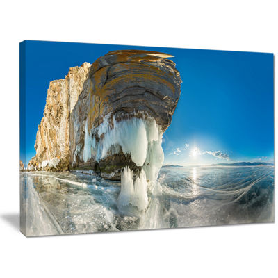 Designart Rock On Olkhon Island In Baikal Lake Landscape Canvas Art Print