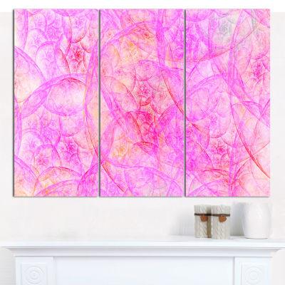 Designart Rose Fractal Dramatic Clouds Abstract Canvas Art Print - 3 Panels