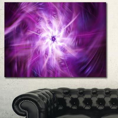 Designart Rotating Bright Purple Fireworks FloralCanvas Art Print