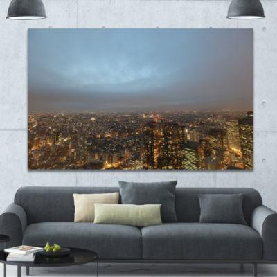 Designart Shinjuku District View Point Cityscape Canvas Art Print