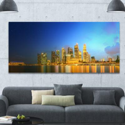 Designart Singapore Skyline And Marina Bay Cityscape Canvas Art Print