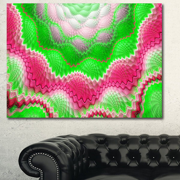 Designart Snake Skin Exotic Flower Abstract Wall Art Canvas