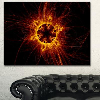 Designart Solar Eclipse Digital Illustration Abstract Wall Art Canvas