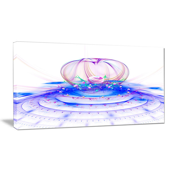Designart Spectacular Blue 3D Surreal Art Floral Canvas Art Print
