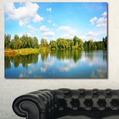 Designart Spring Lake Panorama Landscape Canvas Art Print