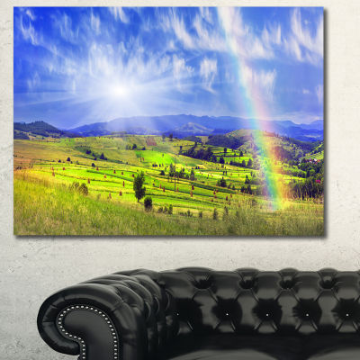 Designart Stacks In Carpathian Mountains LandscapeCanvas Art Print