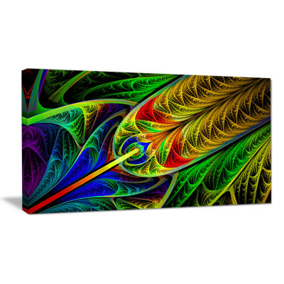 Designart Stained Glass With Glowing Designs Abstract Wall Art Canvas