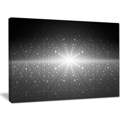 Designart Stardust And Bright Shining Stars Abstract Wall Art Canvas