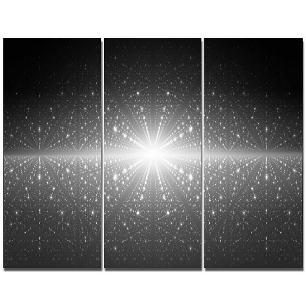 Designart Stardust And Bright Shining Stars Abstract Wall Art Canvas - 3 Panels
