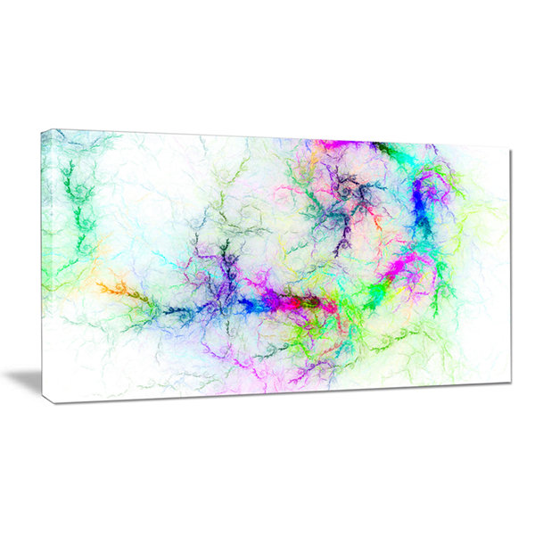 Designart Stormy Sky Fierce Lightning Abstract ArtOn Canvas
