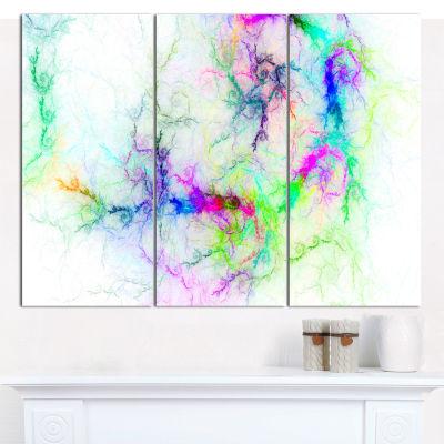 Designart Stormy Sky Fierce Lightning Abstract ArtOn Canvas - 3 Panels