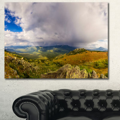 Designart Stormy Sky With Clouds Panorama Landscape Canvas Art Print