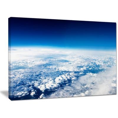Designart Stunning View From Airplane Landscape Canvas Art Print