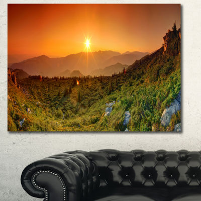 Designart Summer In Mountains Panorama Abstract Wall Art Canvas