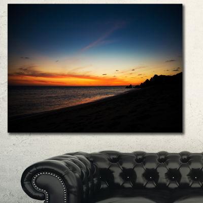 Designart Sunset Over Beach In Cabo St.Lucas Landscape Canvas Art Print