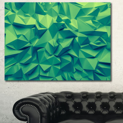 Designart Trendy Emerald Green Background AbstractCanvas Art Print