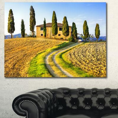 Designart Tuscany Scenery Italy Landscape Canvas Art Print