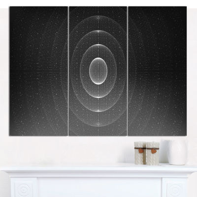 Designart Vector Interstellar Space Background Abstract Wall Art Canvas - 3 Panels