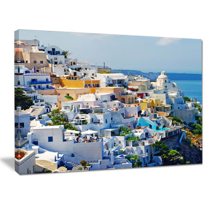 Designart View Of Fira Town Santorini Abstract Wall Art Canvas