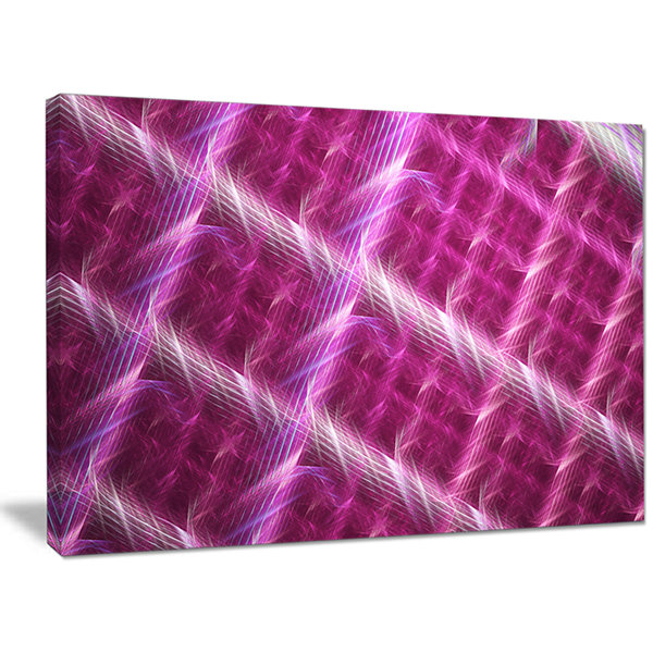 Designart Pink Abstract Metal Grill Abstract Art On Canvas