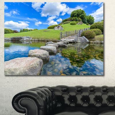 Designart Japanese Garden In Okayama Landscape Canvas Wall Art