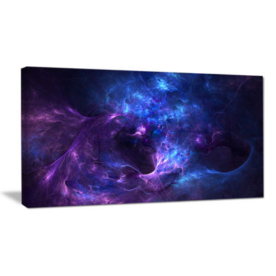 Designart New Galaxy With Nebel Landscape Canvas Wall Art