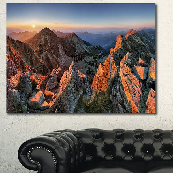 Designart Majestic Sunset In Fall Mountains Landscape Canvas Wall Art