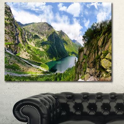 Designart Incredible View Of Tatra Mountains Landscape Canvas Wall Art