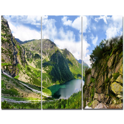 Designart Incredible View Of Tatra Mountains Landscape Canvas Wall Art - 3 Panels