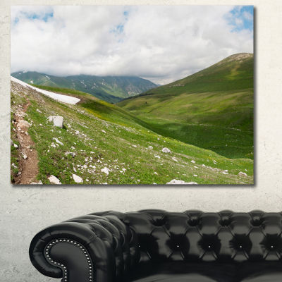 Designart North Caucasus Green Mountains LandscapeCanvas Wall Art