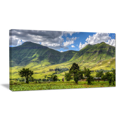 Designart Lesotho Mountains Panorama Landscape Canvas Wall Art
