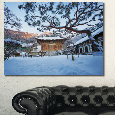 Designart Naesosa Temple In South Korea LandscapeCanvas Wall Art