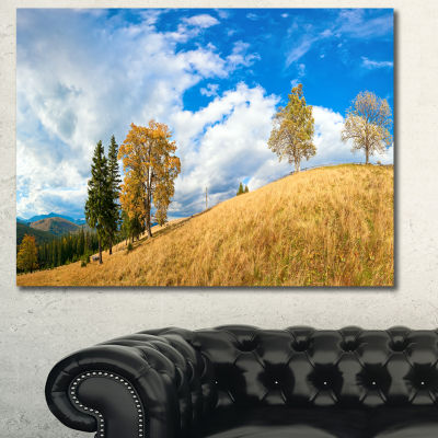 Designart Mountain Autumn Panorama Landscape Canvas Wall Art
