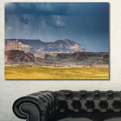 Designart Lake Powell Panorama Landscape Canvas Wall Art