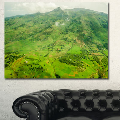 Designart Highlands Around Addis Ababa Landscape Canvas Wall Art