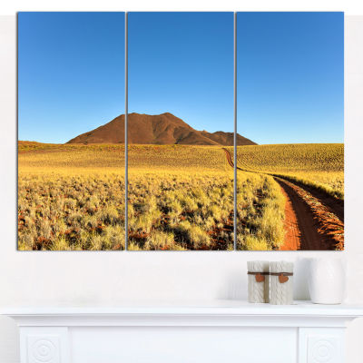 Designart Namibrand Desert Landscape Landscape Canvas Wall Art - 3 Panels