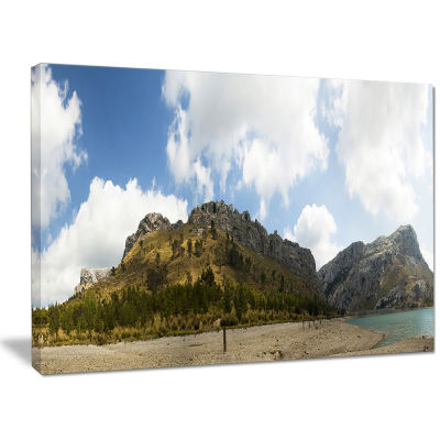 Designart Lake And Clouds Panorama Landscape Canvas Wall Art