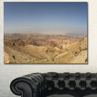 Designart Panorama Desert Hills Jordan Landscape Canvas Wall Art