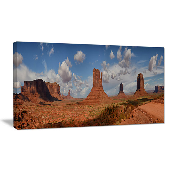 Designart Monument Valley Mountains Landscape Canvas Wall Art