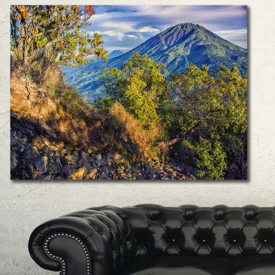 Designart Merbabu Volcano In Java Landscape CanvasWall Art