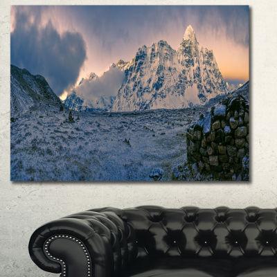 Designart Kangchenjunga Panorama Landscape CanvasWall Art