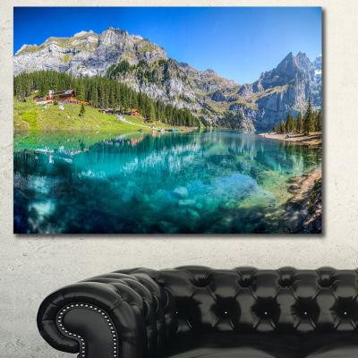 Designart Lake Oeschinen Switzerland Landscape Canvas Wall Art
