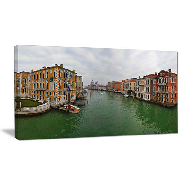 Designart Green Waters In Venice Grand Canal Landscape Canvas Wall Art
