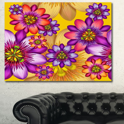 Designart Passion Flowers Pattern Canvas Wall Art