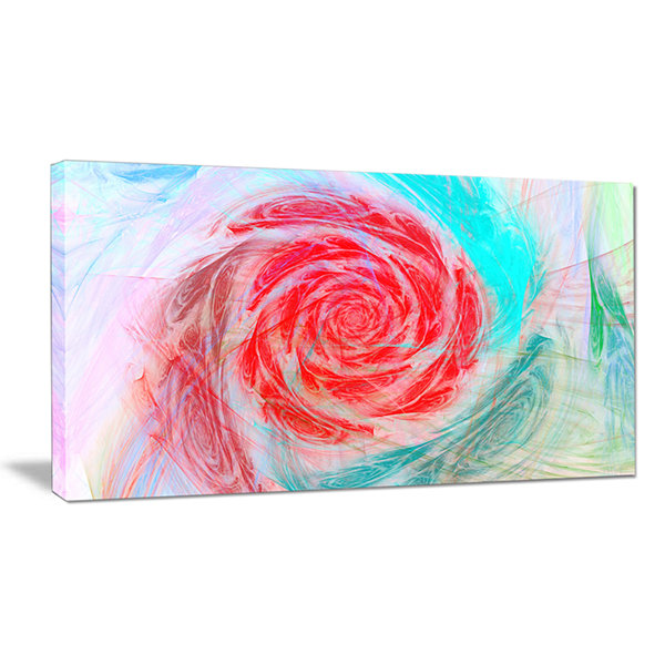 Designart Mysterious Abstract Rose Floral Canvas Wall Art