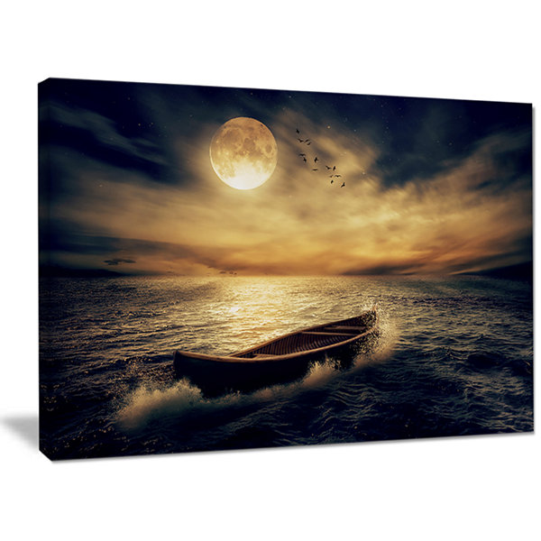 Designart Middle Of Ocean After Storm Floral Canvas Wall Art